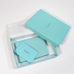 Tiffany & Co. Passport Cover Leather in Tiffany Bl